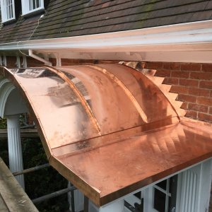 Curved Canopy and Flashing