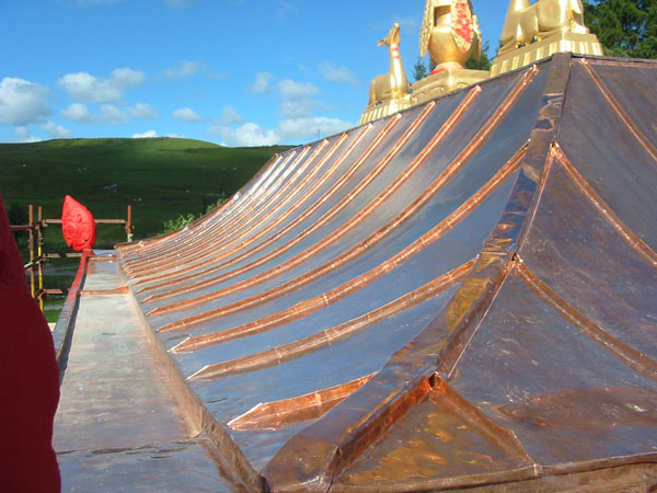 Roll Batten Hip With Standing Seam Trays Zinc And Copper Roofing Ltd