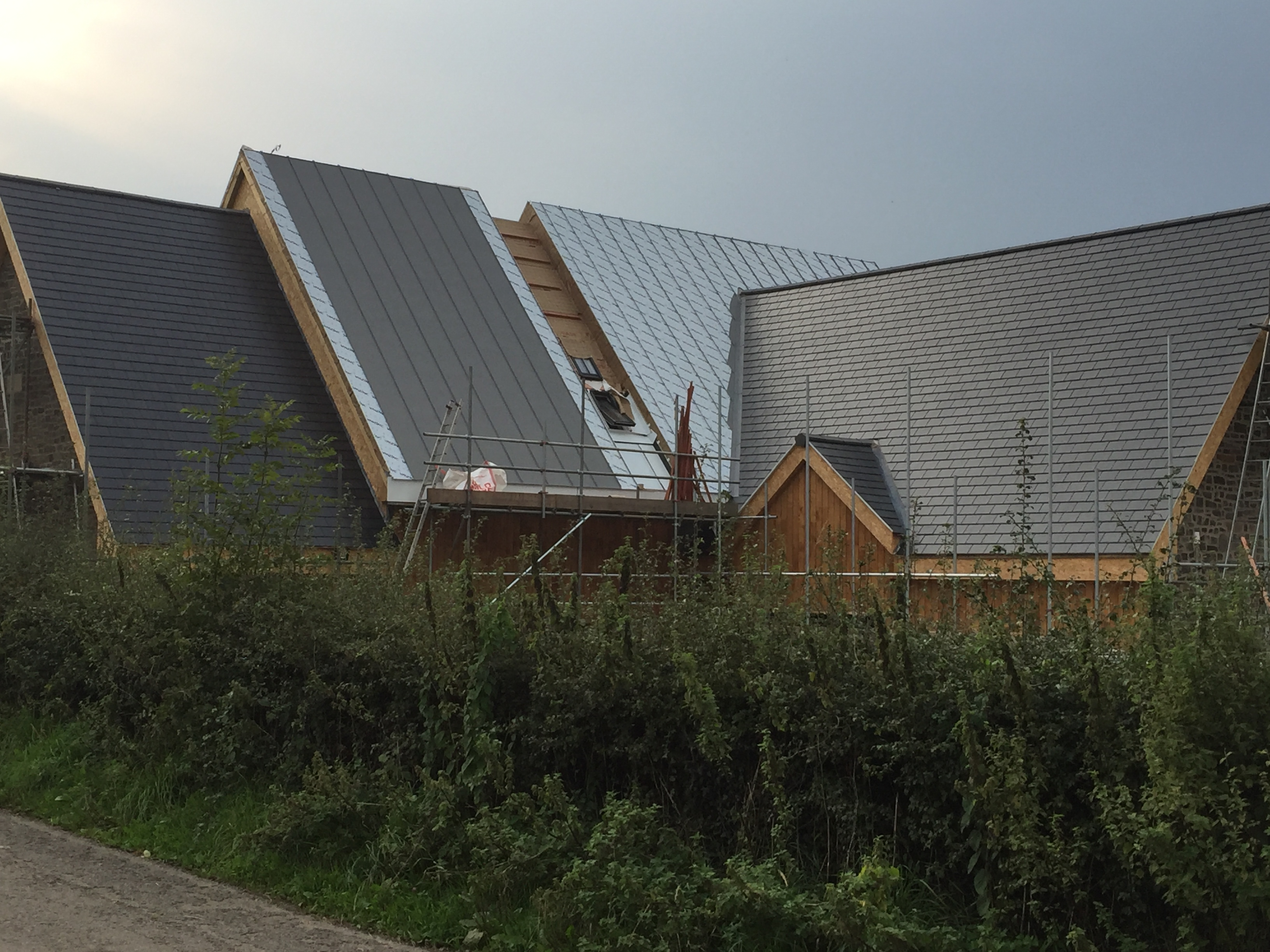 Zinc Roof With Skylights Zinc And Copper Roofing Ltd