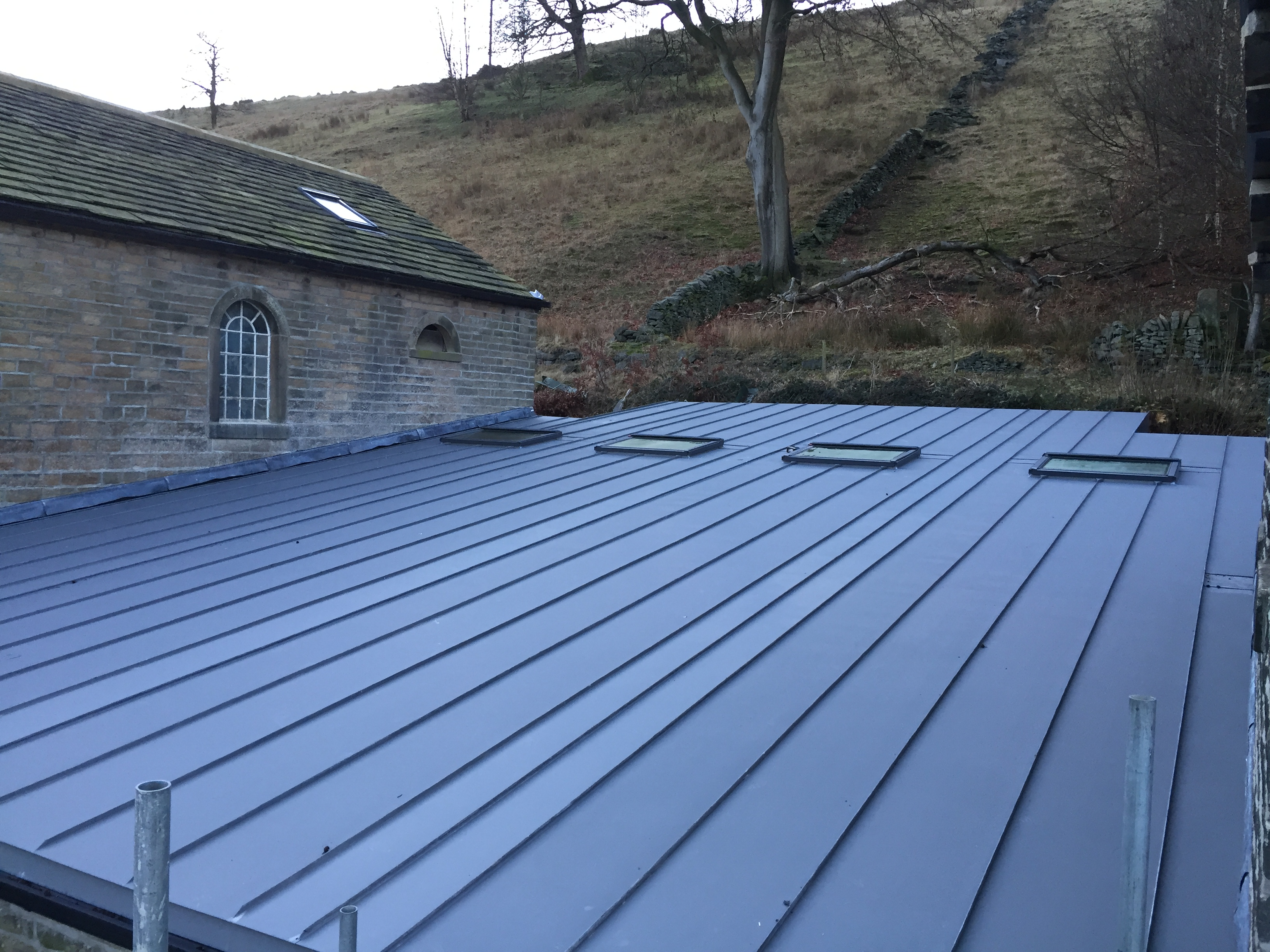 Flat Zinc Roof Zinc And Copper Roofing Ltd