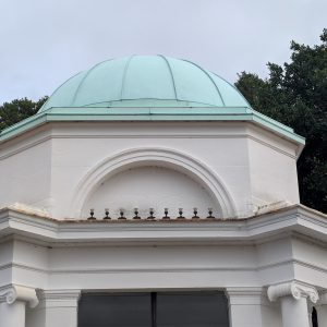 Copper Roof with Painted Patination Finish