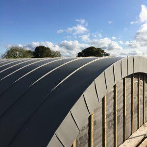 Barrel Vaulted Roof - VM Zinc Quartz