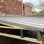 Car Port Roof - VM Zinc Quartz Plus