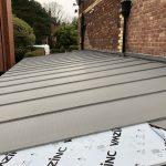 Car Port Roof - VM Zinc Quartz Plus